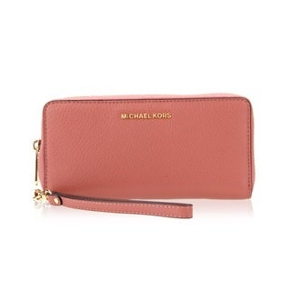 Michael Kors Bedford Antique Rose Travel Continental Wallet