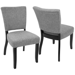 LumiSource Vida Contemporary Nailhead Trim Dining Chairs (Set of 2)