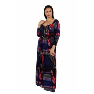 24/7 Comfort Apparel Turn on the Heat Maxi Plus Size Dress