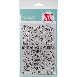 Avery Elle Clear Stamp Set 4X6-North Pole