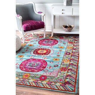 nuLOOM Traditional Inspired Floral Vibrant Multi Rug (7'10 x 11')