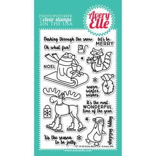 Avery Elle Clear Stamp Set 4X6-Snow Much Fun