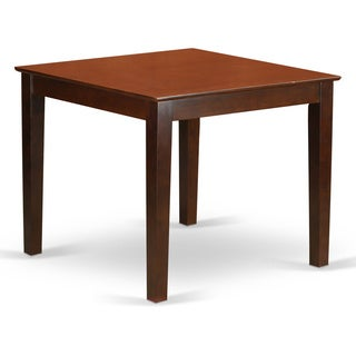 Oxford Square Dining Table (Option: Mahogany Finish)