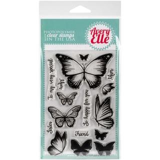 Avery Elle Clear Stamp Set 4X6-Butterflies