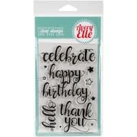 Avery Elle Clear Stamp Set 4X6-Big Greetings