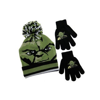 'Star Wars' Yoda Green Acrylic Beanie with Gloves