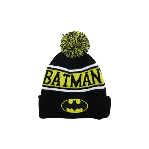 46d41bdc83b Shop Batman Cuff and Pom Beanie - Free Shipping On Orders Over  45 -  Overstock - 14416900