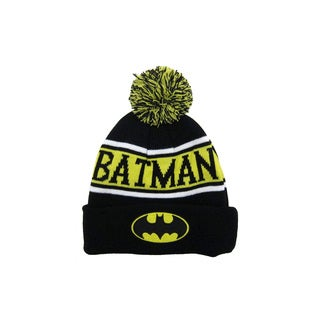 Batman Cuff and Pom Beanie