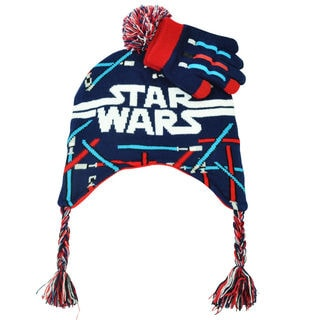 Star Wars Light Saber Peruvian Beanie with Glove
