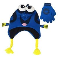 Disney Finding Dory Blue Peruvian Beanie with Glove