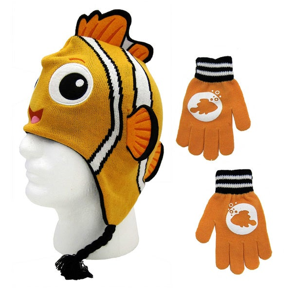 Finding Nemo Peruvian Beanie and Gloves