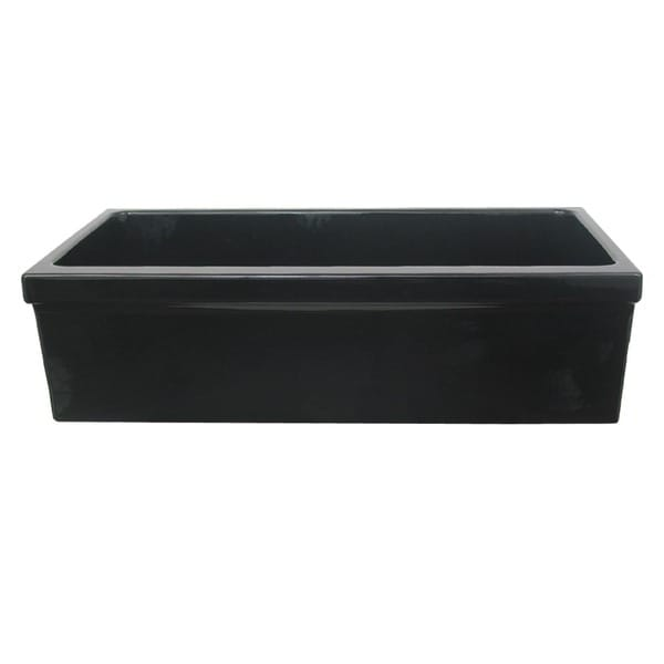 """Large Quatro Alcove reversible fireclay sink decorative 2 ½ inch lip on one side and 2"""" lip on other"""