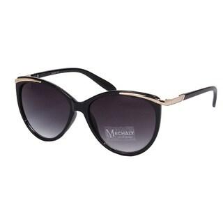 Mechaly Women's Black Plastic Cat Eye Style Sunglasses