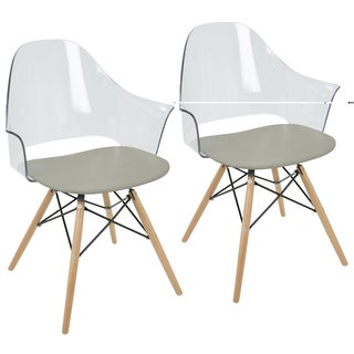 Lumisource Tonic Flair Mid-century Modern Dining/ Accent Chair (Set of 2)