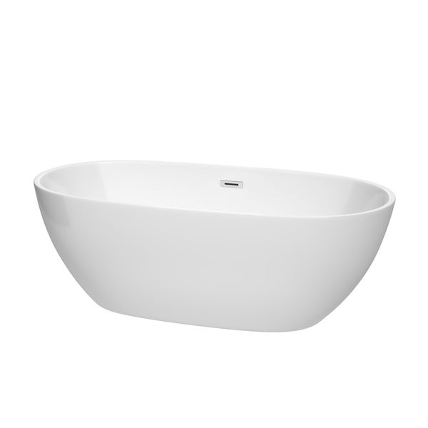 Wyndham Collection Juno White 67-inch Freestanding Bathtub