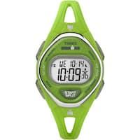 Timex Ironman Sleek 50 Green Silicone Strap Watch