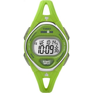 Timex Ironman Sleek 50 Green Silicone Strap Watch