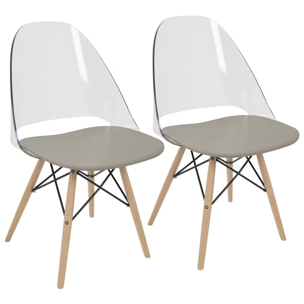 LumiSource Tonic Metal Frame Mid Century Modern Dining/Accent Chair (Set Of  2