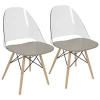 LumiSource Tonic Metal Frame Mid-century Modern Dining/Accent Chair (Set of 2)