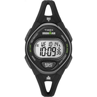 Timex Women's TW5M10900 Ironman Sleek 50 Black Silicone Strap Watch