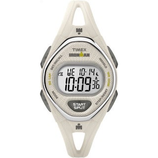 Timex Women's TW5M10800 Ironman Sleek 50 White Silicone Strap Watch