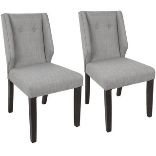 LumiSource Rosario Contemporary Tufted Dining Chair (Set of 2)