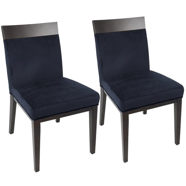 Shop Denver Navy Blue Velvet Contemporary Dining Chair
