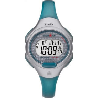 Timex Women's TW5M10100 Ironman Essential 10 Blue/Gray Resin Strap Watch