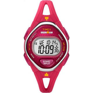 Timex Women's TW5M10700 Ironman Sleek 50 Pink Silicone Strap Watch