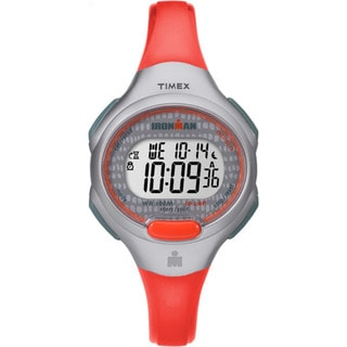 Timex Women's TW5M10200 Ironman Essential 10 Orange/Grey Resin Strap Watch