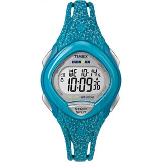 Timex Women's Ironman Sleek 30 Blue Speckled Resin Strap Watch