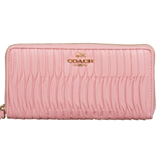 Coach Madison Gathered Leather Accordian Zip Wallet