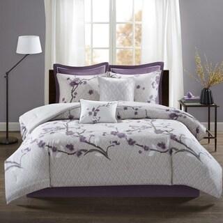 Copper Grove Burwell Purple 8-piece Comforter Set