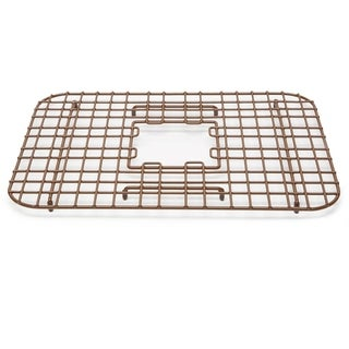 Sinkology Sullivan Copper Kitchen Sink Bottom Grid Heavy Duty Vinyl Coated in Antique Brown