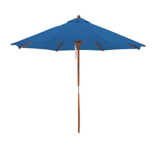Astella 9' Round Wooden Market Umbrella