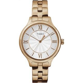 Timex Women's TW2R28000 Peyton Rose Goldtone Stainless Steel and Brass Bracelet Watch