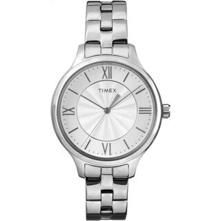 Timex Peyton Silver-tone Stainless Steel Bracelet Watch
