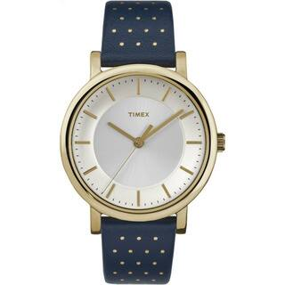Timex Originals Blue/Gold-tone Leather Strap Watch|https://ak1.ostkcdn.com/images/products/14417036/P20984902.jpg?impolicy=medium