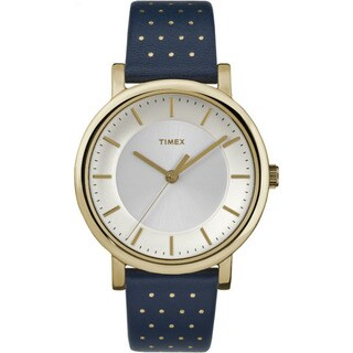 Timex Originals Blue/Gold-tone Leather Strap Watch