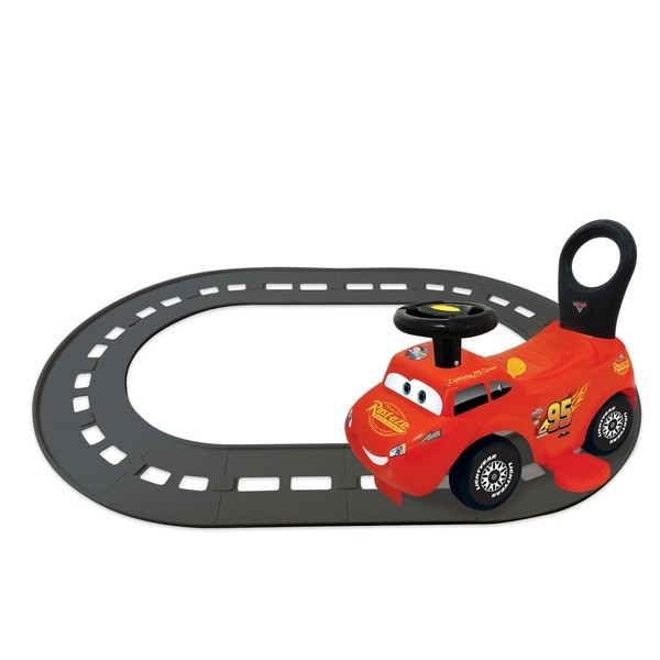 Kiddieland Disney Pixar Cars Lightning McQueen 3-in-1 Go-Go-Racer Ride-on with Track