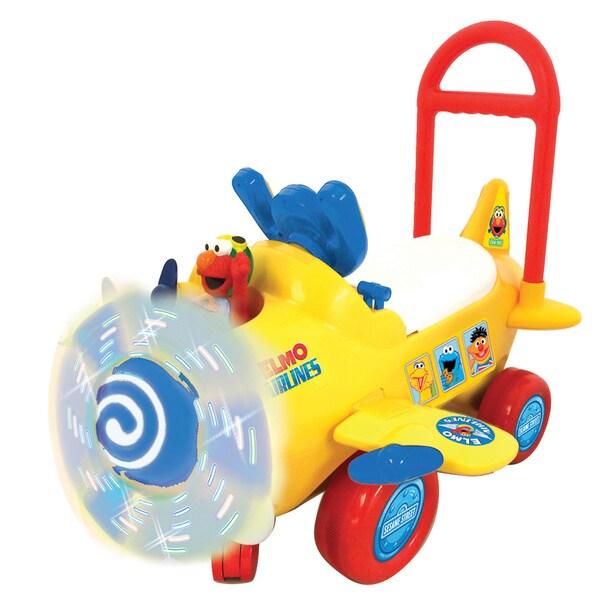 Kiddieland Sesame Street Elmo's Plane Light and Sound Activity Ride-on
