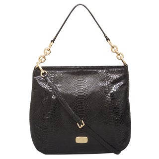 Michael Kors Hallie Large Black Convertible Shoulder Handbag
