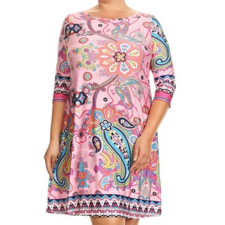 Women's Plus Size Mixed Paisley Pattern Dress