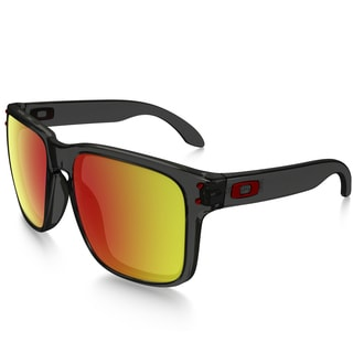 Oakley Holbrook unisex OO9244-04 Gray Smoke Frames Ruby Iridium lenses Sunglasses