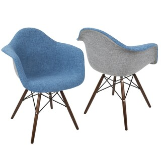 LumiSource Neo Flair Mid-Century Modern Dining/Accent Chairs (Set of 2)