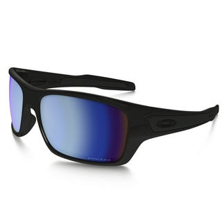 Oakley Rectangle 0OO92631463 Turbine Prizm Deep Water Black Frames Blue Lenses Polarized Sunglasses