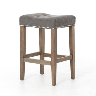 26-inch Belham Handcrafted French Tufted Counter Stool