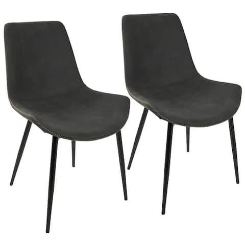 Carbon Loft Richard Black Metal Industrial Dining Chairs (Set of 2) - N/A