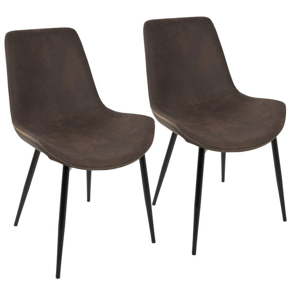 LumiSource Duke Black Metal Industrial Dining Chairs (Set Of 2)