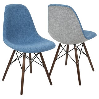 LumiSource Brady Midcentury Modern Dining Accent Chairs (Set of 2)